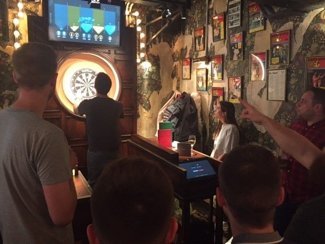 Decision Tech team at Flight Club darts